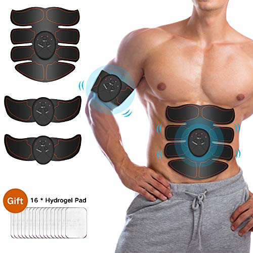 Abs stimulator for men- Muscle Toner Abdominal Toning Belt Fit for Body Arm,Abs Trainer Muscle Toner,Muscle Stimulator,Electrical Muscle Stimulation Abs Stimulator at Home Office Gymnasium or Gym