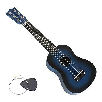 Mmlika Guitarra Pequeña 23 Pulgadas Durable Tamaño Pequeño Tono ...