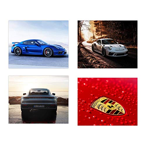 [해외]Insire Porsche Poster Wall Art | Set of Four 8x10 Sports Car Prints| 718 Boxster | Cayman GT4 | 911 GT2 RS | Carrera S / Insire Porsche Poster Wall Art | Set of Four 8x10 Sports Car Prints| 718 Boxster | Cayman GT4 | 911 GT2 RS | C...