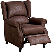 Furniture of America CM-RC6834 Leona Push Back Furniture, Brown