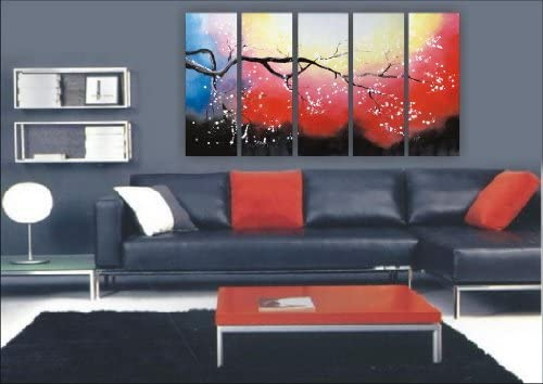 Asian Home Modern Abstract Art Oil Painting Stretched Ready to Hang OPZ-5-7