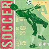 Oopsy Daisy Game Ticket Soccer by Roger Groth Canvas Wall Art, 30 by 30-Inch