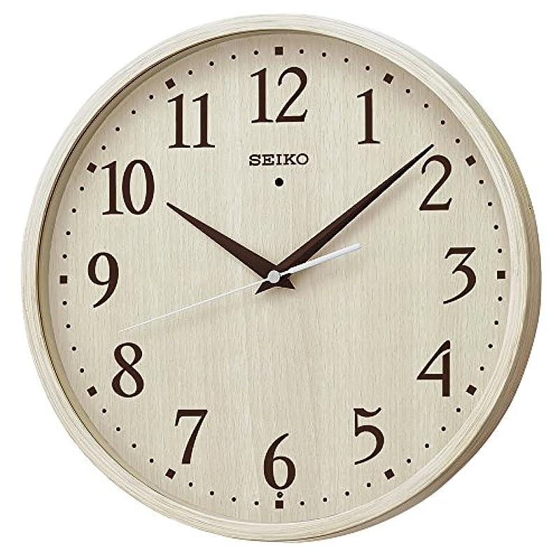 세이코 clock 벽시계 전파 아날로그 아이보리 나무결 모양 KX399A SEIKO