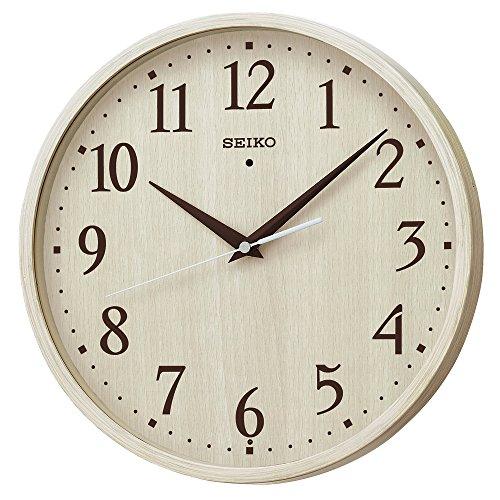 세이코 시계 벽시계 전파 아날로그 아이보리 나무결 무늬 KX399A SEIKO / 진한 갈색 나무결 무늬 KX399B SEIKO