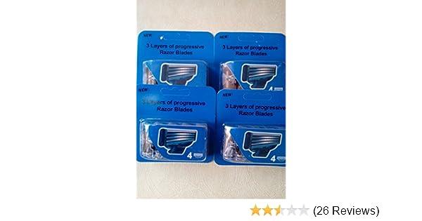 Amazon.com: 16=4x4) Generic Compatible Mach3 Replacement Razor Refill Cartridges.: Health & Personal Care