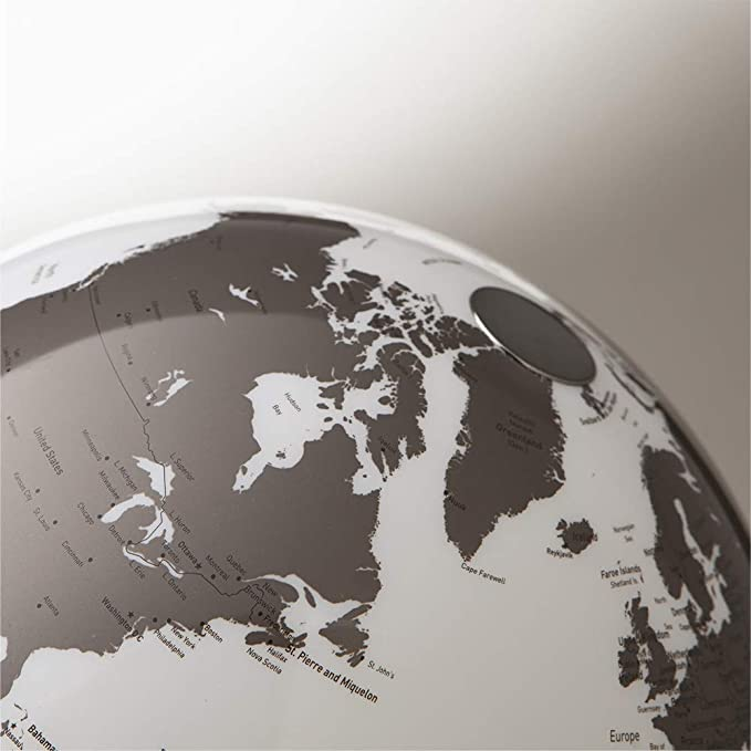 TECNODIDATTICA Tecnodidaktische Weltkarte Atmosphere Light/&Colour Metal Gold Farbe 0331F7