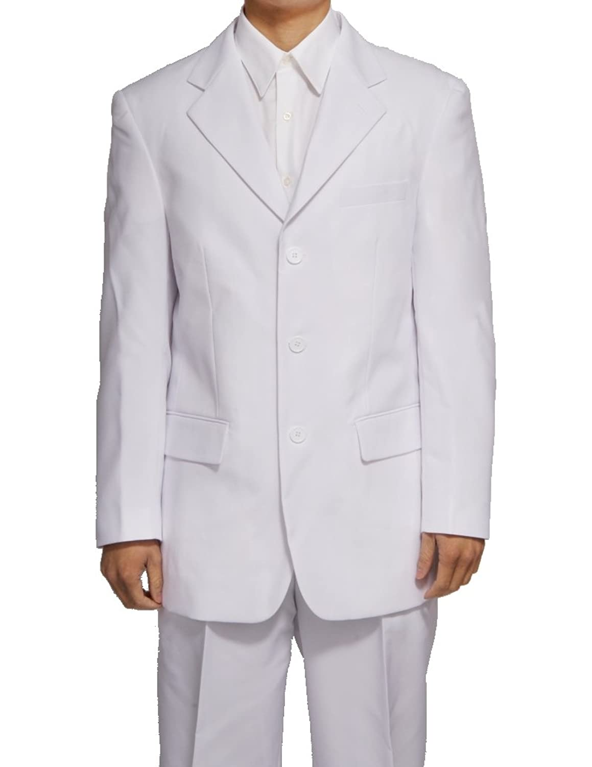 New Men's 3 Button Single Breasted White Dress Suit at Amazon ...