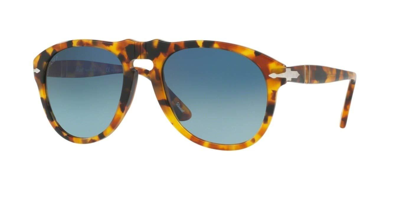 Persol PO0649 Sunglasses-1052S3 Madreterra (Blue Gradient Polarized Lens)-54mm by Persol