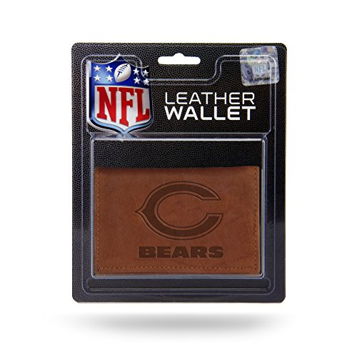 - NFL Chicago Bears Leather Trifold Wallet with Man Made Interior