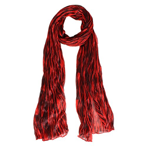 Long Striped Scarf (Tiger Striped Long Scarf (Red))