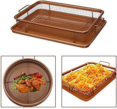 miaomiao Poêle à frireCuivre Rectangle Pan Français Chef Panier Facile Propre Cuisine Cuisson Croustillant Plateau Cuisson Pan BBQ Barbecue Plateau