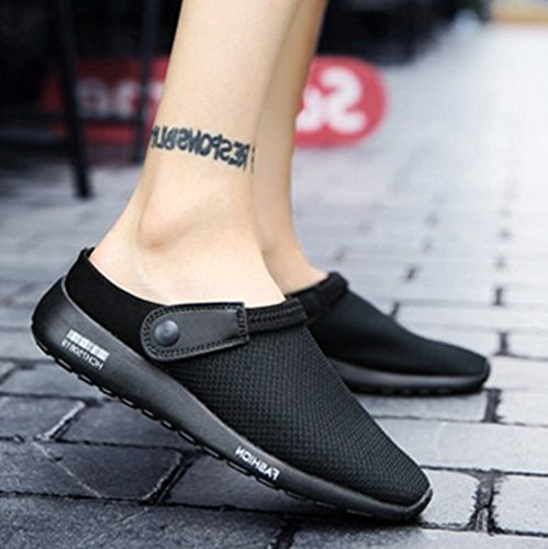 BERTERI Men's Slippers Toe Flops Lazy White Summer Black Beach Flip Flats Casual Closed Sandals qrqRg1nx4w