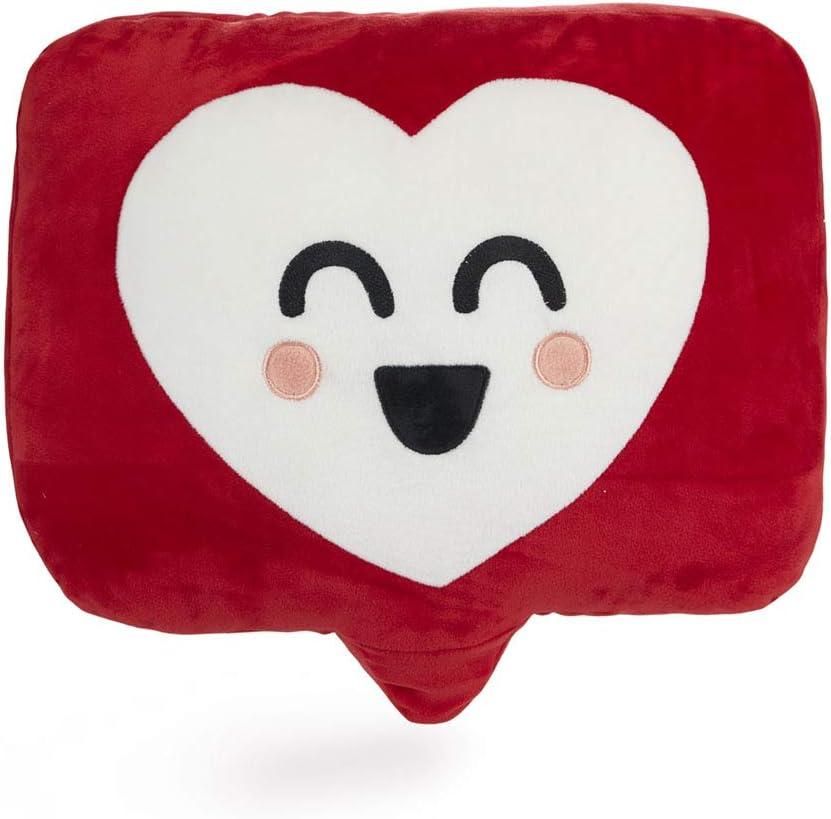 Cojín Mr Wonderful Like Color Rojo Cojín Mr Wonderful Original y Extra Suave con diseño corazón Like Redes sociales Cojín Original y Divertido Poliéster 39×30 cm
