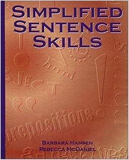 Simplified Sentence Skills by Barbara Hansen (1997-08-30)