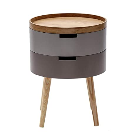 Amazon Com Baomei Coffee Table Round Coffee Side Table 2