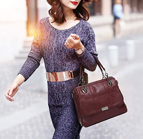 bandolera Carteras Mujer DEERWORD Bolsos bolsos de de y mano hombro Shoppers Burdeos clutches y 0SS8qRx