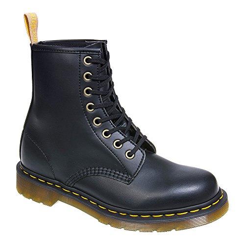 (Dr. Martens Vegan 1460 Smooth Black Combat Boot,  Fleix Rub, 6 UK/US Men's 7 Women's 8 D US)