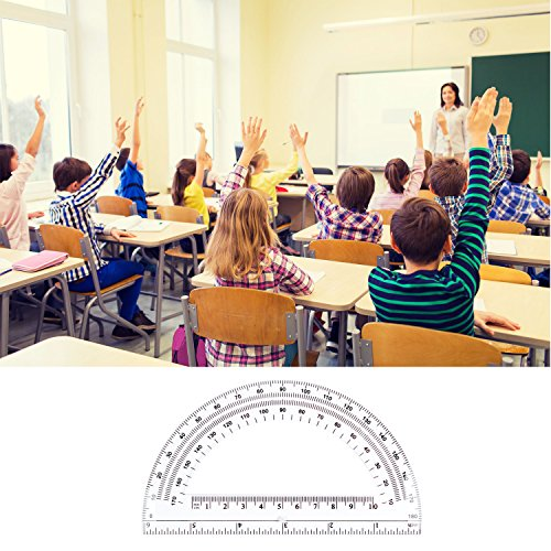 24 Pack Protractors Esee Plastic Protractor for School Teachers and Students, 6 Inch Math Clear Protractor by ESEE (Image #4)