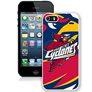 NEW Personalized Customized Iphone 5 5S Case with NCAA Big 12 Conference Big12 Football Iowa State Cyclones 1 Protective Cell Phone Hardshell Cover Case for Iphone 5 5s White