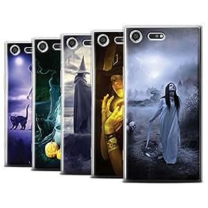 Official Elena Dudina Gel TPU Phone Case / Cover for Sony Xperia XZ Premium / Pack 6pcs Design / Dark Magic Collection