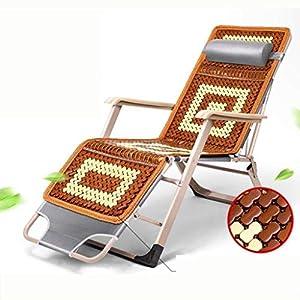 MXueei Regolabile Poltrona Chaise, con poggiatesta Sedia gravità bracciolo reclinabile Lounger Zero Nap Bed Sedia… 2 spesavip