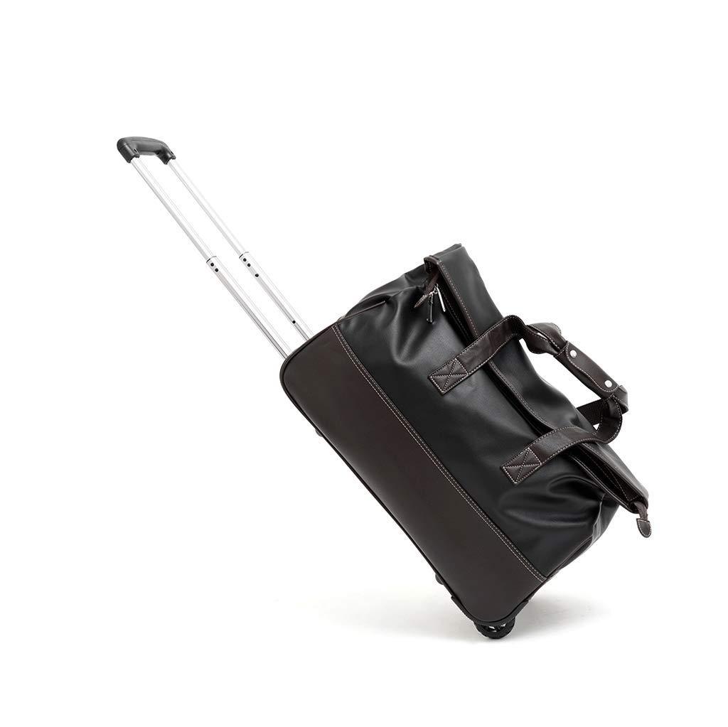 CATRP 多機能 スーツケース オックスフォード織物 ポータブル 軽量で実用的 大容量 ファッション レジャー用 旅行 (色 : Black-L)  Black-L B07QK6SGG6