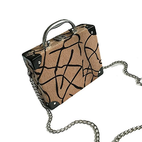 Women Sweet Top Handle Handbags Vintage Print Evening Bag Box Clutch - Vintage Clutch Print