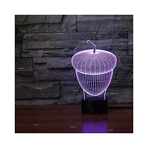 Wide Pinecone Light 3 (Pine Cone Shape 3D Children's LED Light New Exotic Gift Small Table lamp)