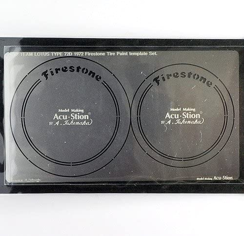 【Acu・Stion/アクステオン】1/12 ロータス72D 1972 Firestone タイヤペイントテンプレートセット