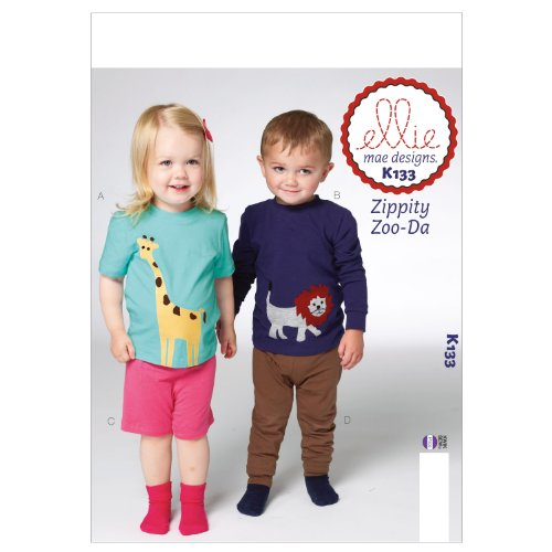 (KWIK-SEW PATTERNS K0133 Toddlers Top/Shorts and Pants Sewing Template)