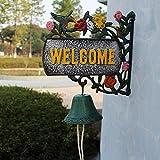 LBYMYB Wrought Iron Doorbell Retro Welcome Door Hummingbird Modeling Hand Craft Craft Ornament 28x11.1x27cm doorbell