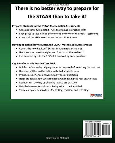 TEXAS TEST PREP Practice Test Book STAAR Math Grade 3: Includes ...
