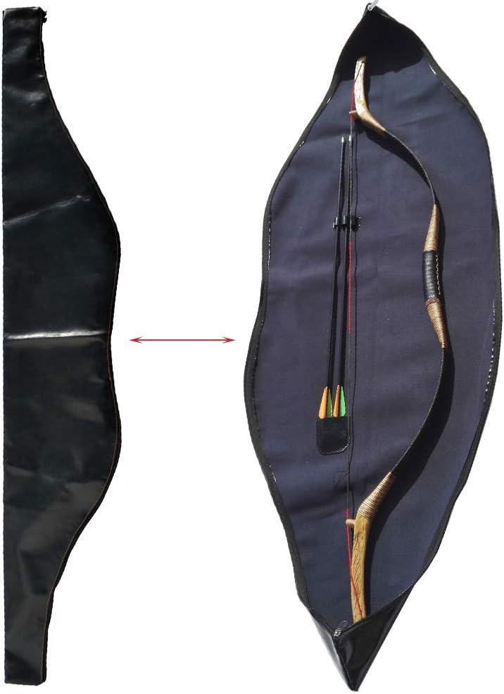 MILAEM Impermeable Cuero Bolsa de Arco Tradicional Arco Recurvo de Arco Longbow