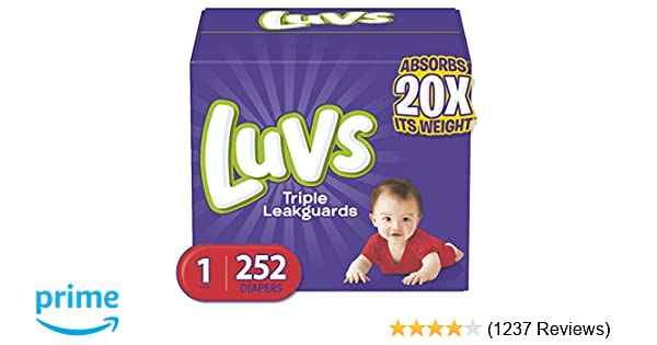 Luvs Ultra Leakguards Baby Diapers Newborn Size 1 252 Count ** NO TAX **