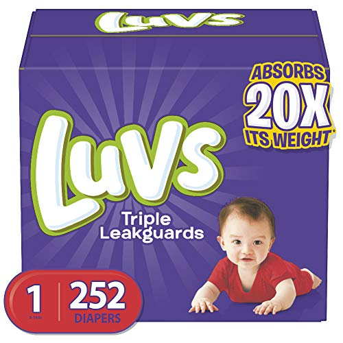 Diapers Newborn / Size 1 814 lb 252 Count  Luvs Ultra Leakguards Disposable Baby Diapers ONE MONTH SUPPLY Packaging May Vary