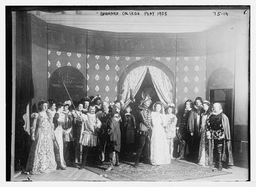 Group Costumes For 8 People (Photo: Barnard College play,1908,group of people in costumes,on stage)