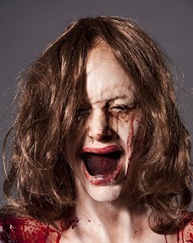 Female Zombie Head Prop (Crying Female Head | Halloween Prop THE WALKING DEAD Haunted House Zombie BACK FROM THE GRAVE)