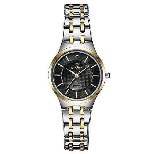 qianba q8029 - - 2BG 2016 Top mujer marca de lujo reloj de cuarzo resistente al agua muñeca relojes acero inoxidable Casual Fashion Business Vestido ...