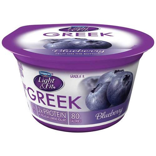 Light and Fit Blueberry Greek Nonfat Yogurt, 5.3 Ounce -- 12...