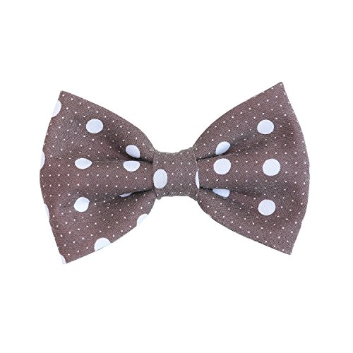 THE DOK Brown Polka Dot – Dog Cat Pet Bow Tie Bowtie Collar Accessory 4 inch Christmas New Year 2020 Gift