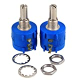 WEONE 3590S-2-501L Variable Resistor Precision Potentiometer 500 Ohm Wirewound (Pack Of 2)