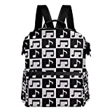 ALAZA Music Note Casual Backpack Waterproof Travel Daypack Student School Bag