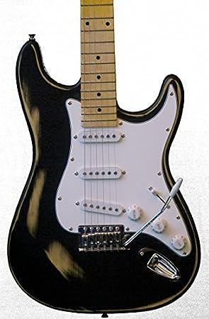 KEYTONE Guitarra Eléctrica St Vintage Diseño Black: Amazon.es: Instrumentos musicales