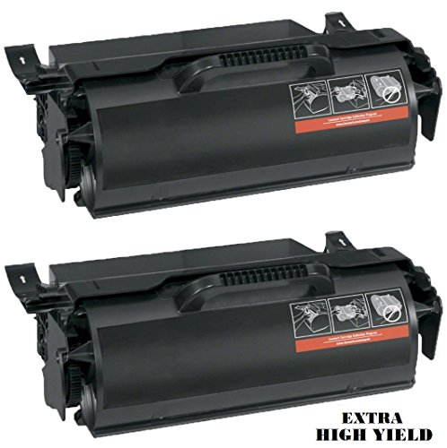 Global Cartridges Premium Quality Compatible 12A7365 Extra High Yield Toner Cartridge for Lexmark T632 T634 X630 X632 X634 Printers (Black, 2-Pack)