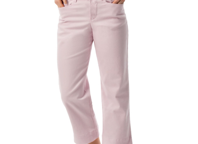 SONOMA life + style Sonoma Womens Stretch Cotton Capri (8, Lilac)