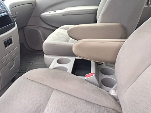 NISSAN QUEST 2015,2016, 2017, 2018 Van Auto Armrest Covers - Protect Fold down Armrest with a CR Grade Neoprene, Waterproof, soft and provides excellent protection. One PAIR - Large Tan