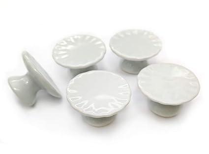 White Fruit  Bowls Dollhouse Miniatures Ceramic Supply Food 2x25 mm
