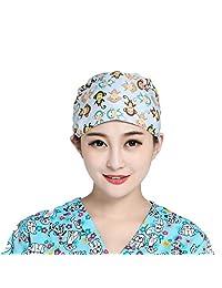 Doctor Nurse Scrub Cap Women's Adjustable Unisex Medical Uniform Surgical Hat