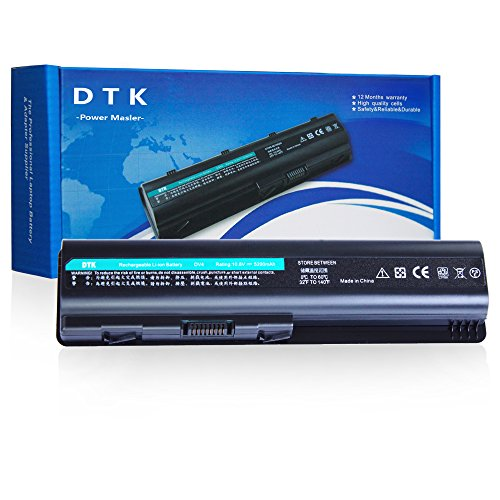 DTK EV06 484170-001 Laptop Battery Replacement for HP G60 G61 G70 G71 Pavilion DV4-1000 / DV5-1000 / DV5-3000 / DV6-1000 / DV6-2000 / Compaq Presario CQ40 / CQ60 / CQ61 ()