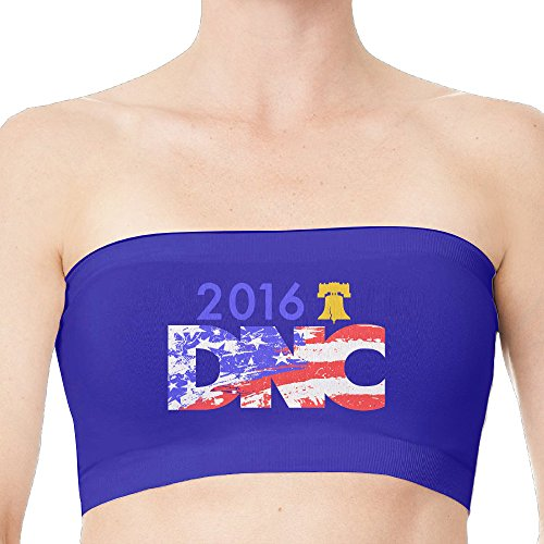 2016 Dems In Philly US Flag Strapless Bandeau Bra